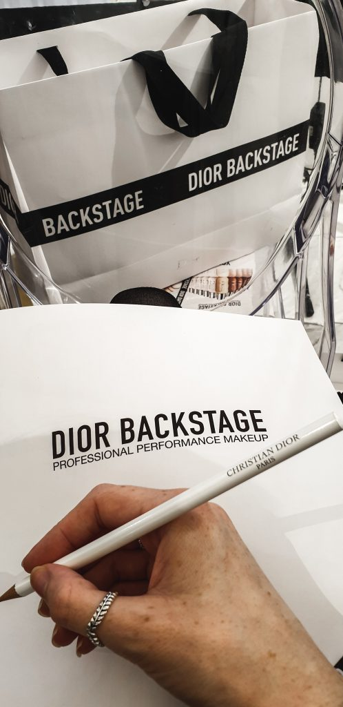 Dior Pencil and Paper to note down all the makeup tips